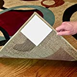 Rug Buddies Corner Keeper! Rug Gripper that Instantly Stops Rug Movement AND Flattens Corners. Adheres to Floor AND Rug with NO RESIDUE. Rug Anchor thats Easy to Install! 8 Pieces Included for 2 Rugs!