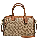 New Authentic COACH New York Signature Bennett Khaki/Saddle Satchel Crossbody