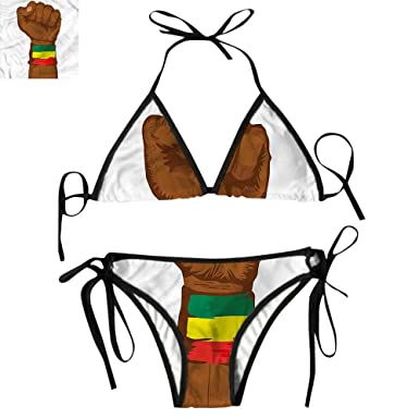Amazon.com  Triangl Bikini Set Flag Colors Art  Clothing c13893d2bb9b