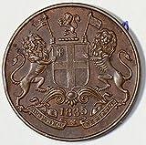 1835 IE I0284 India Independent Kingdoms 1/4 Anna Bengal Presidency lion animal DE PO-01