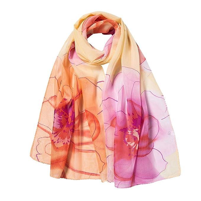 ALIKEEY Moda Mujer Impresión De Flores Largo Suave Abrigo Bufanda Chal Bufandas Papel Desechable AñOs Amarillo Oido Gorros Desechables: Amazon.es: Ropa y ...