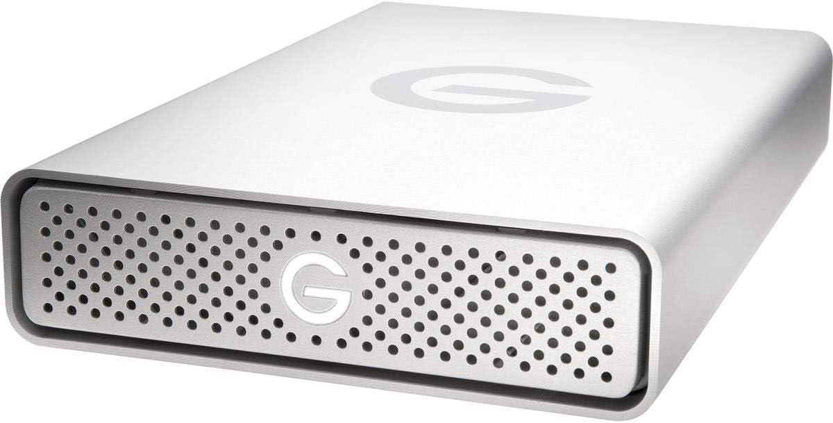 G-Technology 14TB G-DRIVE USB 3.0 Desktop External Hard Drive, Silver - Compact, High-Performance Storage - 0G10506-1
