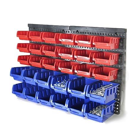 30 Bin racktools clavos para garaje cobertizo de almacén hardware de almacenamiento soporte de pared para