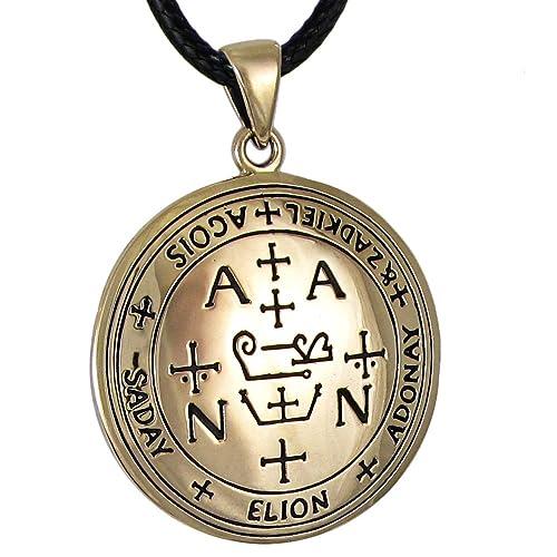 Amazon Bronze Sigil Of Archangel Zadkiel Talisman Necklace Jewelry