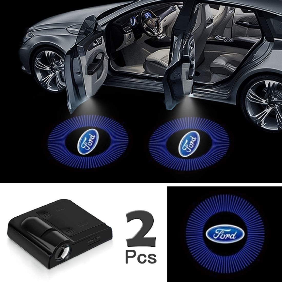 Upgraded Car Door Welcome Logo Projector Lights with 3.M Sticker,forD0DGE JOJOY LUX 2 Pack Car Door Lights Logo Projector Universal Wireless Car Door Led Projector Lights
