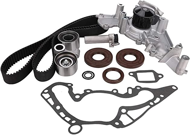 LuftMeister TKT-021 Engine Timing Belt Kits with Water Pump for Toyota Tundra Sequoia Land Cruiser 4Runner Lexus SC430 GX470 LX470 LS430 GS430 2002-2009
