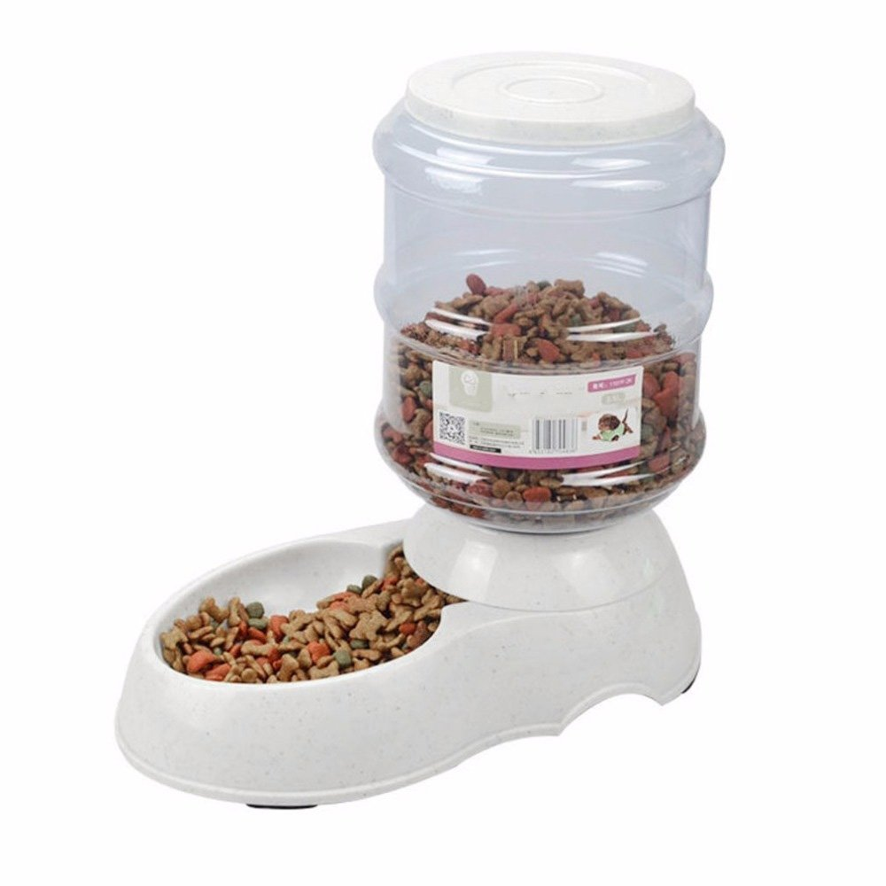 Takestop® cuenco distribuidor automático dispensador pienso Agua Cuenco 3.5L animales domésticos comida Gatos Perros Color aleatorio: Amazon.es: Electrónica
