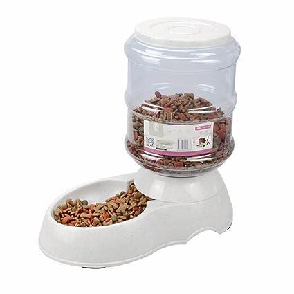 Takestop® cuenco distribuidor automático dispensador pienso Agua Cuenco 3.5L animales domésticos comida Gatos Perros