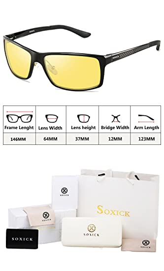 Amazon.com: Gafas de conducción nocturna Soxick HD para ...