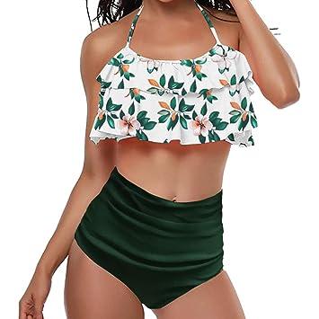 5a731037050 Two Pieces Bathing Suit Cover-ups for Women Bikini Jiayit Womens Bikini Set  Flounce Tank