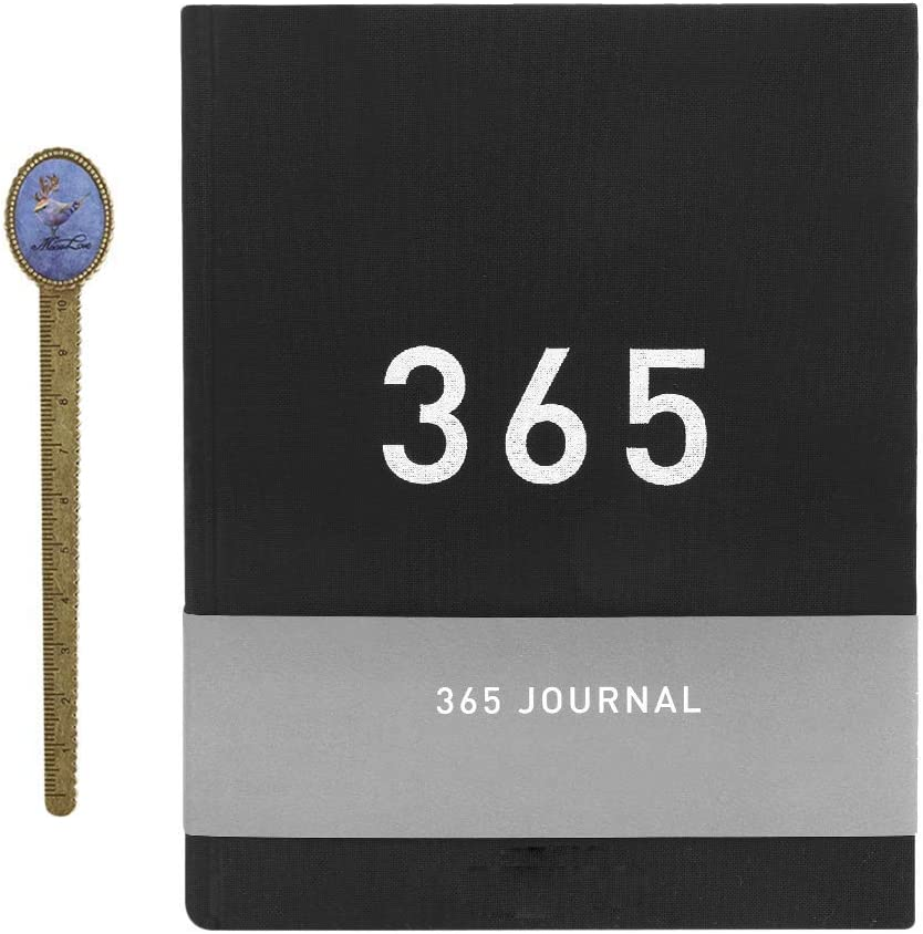 365 Days Daily Planner Journal Numbered Blank Page for Schedule a Day A5 Writing Journal Notebook for Building Positive Life Habits Life Planner Gratitude Journal DIY Dooding Notes Dairy Scrapbook