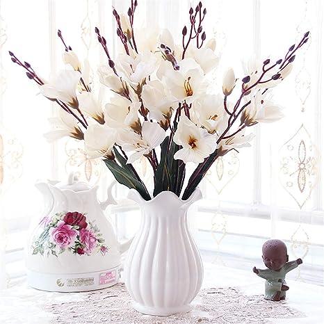 Licxcx Flores Artificiales Sala de Estar Mesa Flor ...