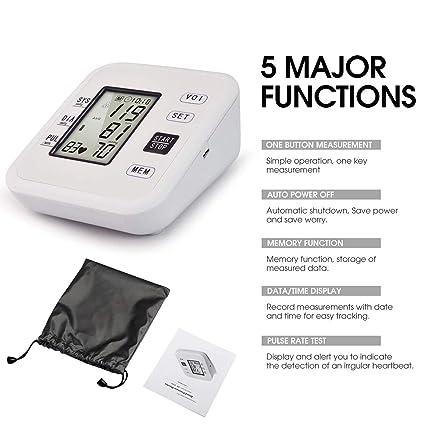 Amazon.com: Blood Pressure Monitor Hong S Upper Arm Automatic High Blood Pressure Monitor with Crystal Digital Display 99 Set Memory Voice Broadcast ...