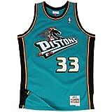Mitchell & Ness Grant Hill # 33 Detroit Pistons 1998 – 99 Swingman NBA Camiseta Turquesa