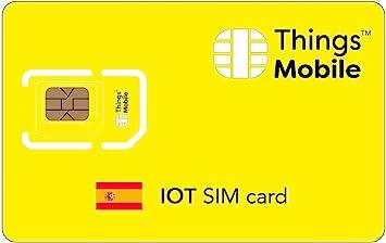 Tarjeta SIM para IOT ESPAÑA - Things Mobile: Amazon.es: Electrónica