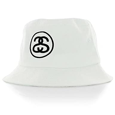 7a31bbebf8f10 Stussy SS Link Bucket Hat - White-S-M  Amazon.co.uk  Clothing