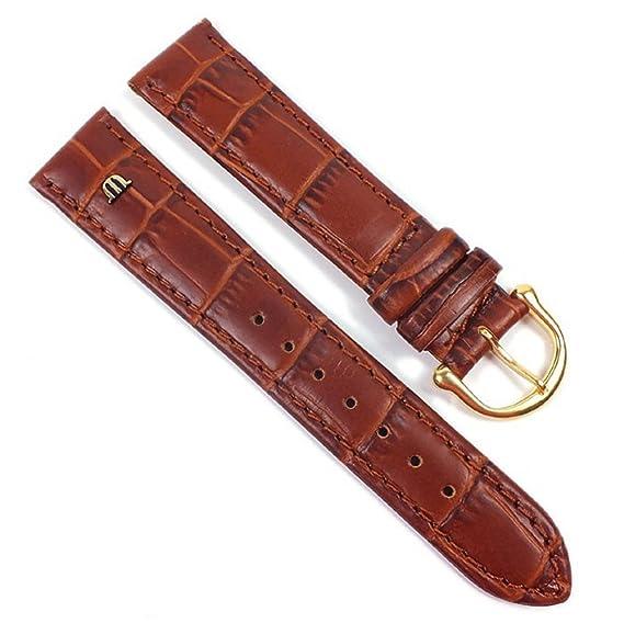 Maurice Lacroix ML-21607-18G - Correa para reloj, piel, color marrón: Amazon.es: Relojes