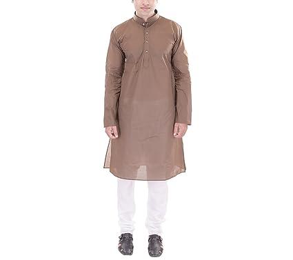 ellegent exportsmens cotton kurta brown
