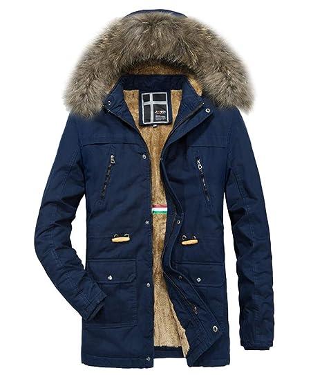 89e85a4ba1de Ghope Herren Männer Winter Mantel Warm Dick Jacke Plus Faux Pelz  Kapuzenmantel Winterjacke Parka Steppjacke Wärmejacke Gesteppt  Amazon.de   Bekleidung