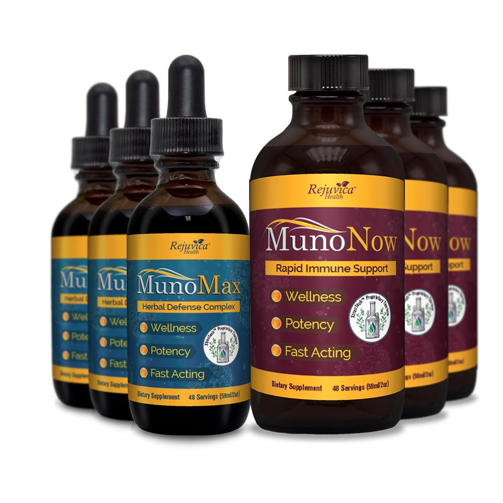MunoMax & MunoNow - Immune Support + Soothing Syrup | All-Natural Liquid Formula for 2X Absorption | Elderberry, Echinacea, Ginger & More! (6)