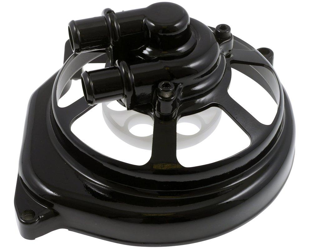 ROLLER Wasserpumpendeckel STR8 Extreme Cut schwarz f/ür YAMAHA Aerox 50cc Jog RR