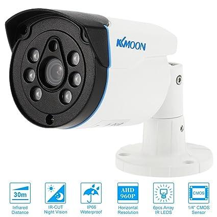 "KKmoon 960P AHD Cámara Bala de Vigilancia 1.3MP Impermeable 3.6mm 1/4"""