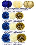 1st Birthday Boy Prince Party Supplies Navy Gold