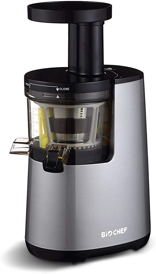 BioChef Atlas Slow Masticating Juicer 0.5 Litre, 150W 60 RPM Cold Press Juicer Quiet Motor & Quick Clean