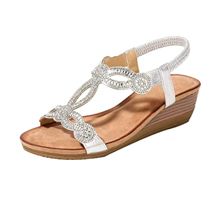 4151be5bc3b26 Hot Sale! ❤ Women Rhinestone Vintage Wedge Sandals Shoes Bohemian