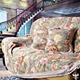 European jacquard sofa slipcovers,Rural sofa cloth Sofa Cover sofa towel vintage lace suede couch cover-A 190x330cm(75x130inch)