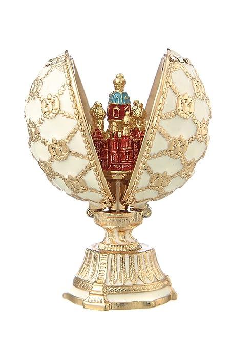 huevo ruso de Estilo Faberge con Iglesia del Salvador sobre la sangre San Petersburgo y el