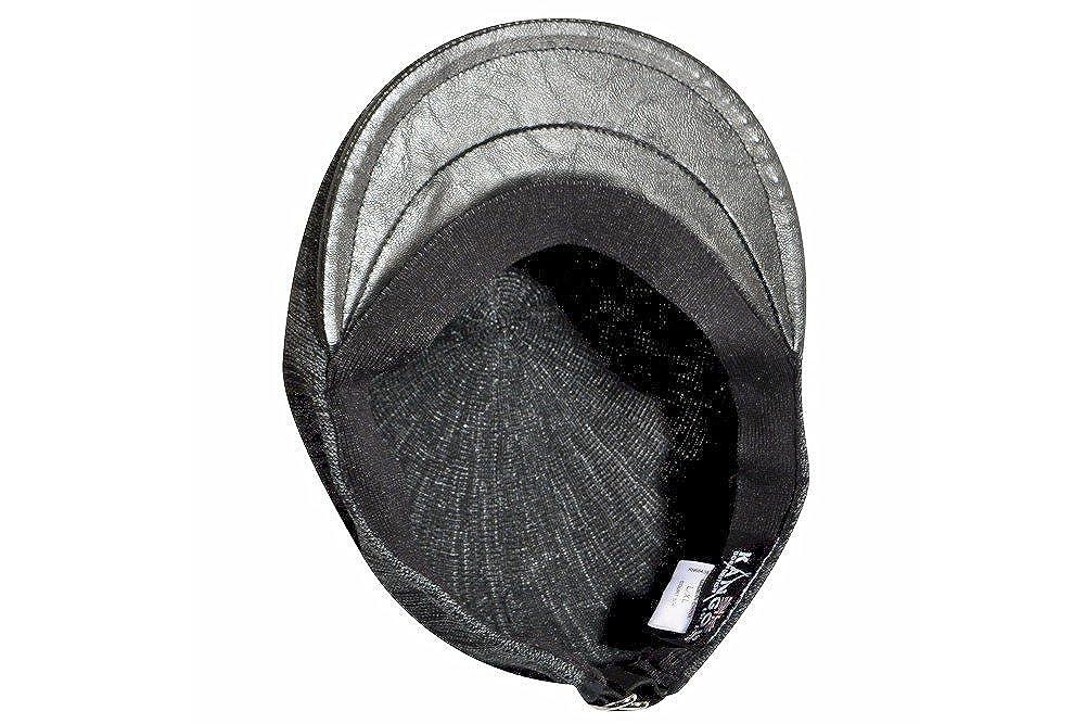 KANGOL 504 Flat Cap K3004HT Court Beret Tonal Marl Knit Black Grey L XL