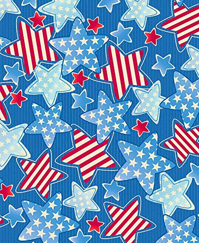 (The Lakeside Collection 3-Pc. Picnic Table Cover Sets- Americana Stars)