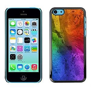 Paccase / SLIM PC / Aliminium Casa Carcasa Funda Case Cover - Messy Rainbow Colorful Blue - Apple Iphone 5C