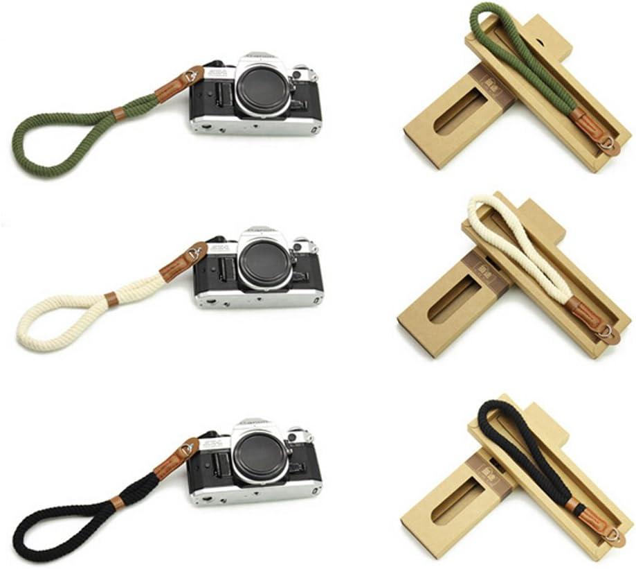 Boshiho Leather Cotton Camera Wrist Strap Belt Woven Hand Wrist Strap for Cameras//Binoculars