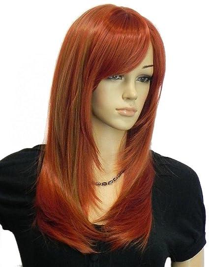 Cortes de cabello largo color rojo