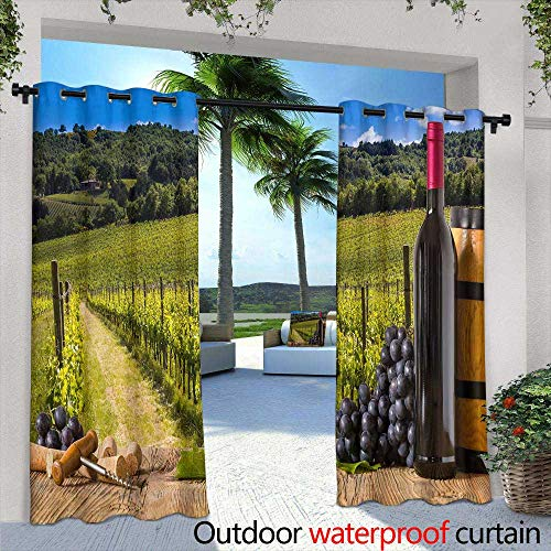 (Lightly Outdoor Privacy Curtain for Pergola,Digital Tiles Design Wallpaper Design,W96 x L96 Outdoor Patio Curtains Waterproof with)