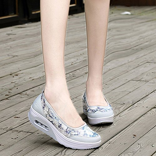 Leisure Women Slip For Women��farjing Net Cushion Sneakers Sport Gray Shoes Air Surface Sale Shake Clearance IUwOqaP