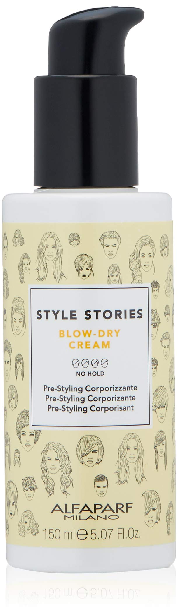 Alfaparf Milano Style Stories Blow-Dry Cream Styling Product - Professional Salon Quality - Increases Body, Makes Drying Quicker and Easier, Fights Frizz - 5.07 fl. oz. by Alfaparf Milano