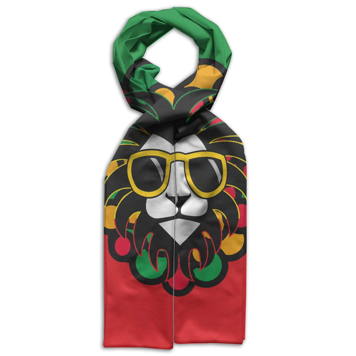 Jamaica Rasta Lion Kids Printed Scarf Comfortable Winter Infinity Scarf Warmer Travel Scarf For Kids Perfect Birthday Gift