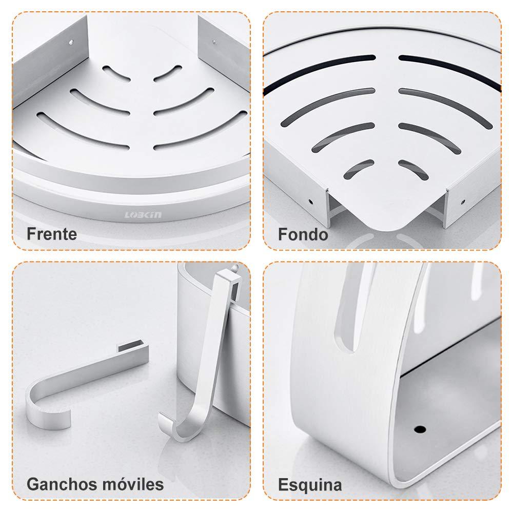 Mensole Bagno Angolo Triangolo Mensole Scaffale Da Doccia Portaoggetti Da Doccia, Alluminio Spaziale Mensola Mensole Bagno Senza Foratura Rack a Muro per Cucina (1PC)