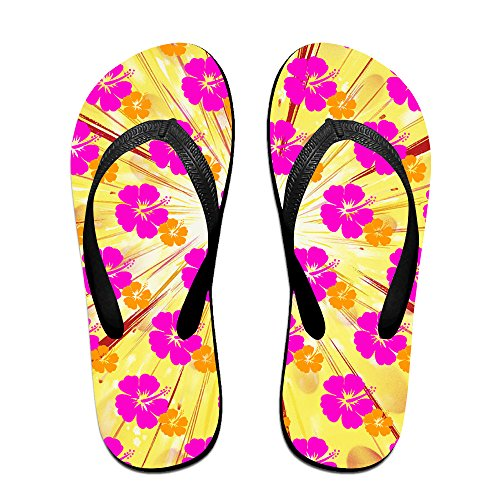 Hawaiian Flower Aloha Unisex Fashion Beach Slipper Indoor And Outdoor Classical Flip-flop Thong Sandals S (Tiger Flip Sandals)