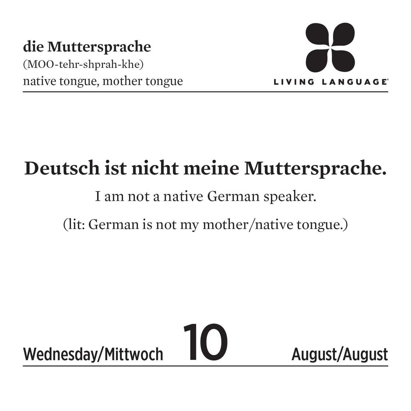 Living Language German 2016 Day to Day Calendar Random House