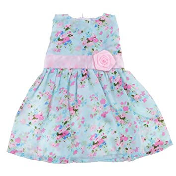 Sharplace 18inch Cute Dolls Party Dresses w/ Flowers Decoration for American Girl Doll Outfit Clothing