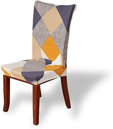 Fashion·LIFE Housses pour Chaises Housses élastiques Couverture de Chaise Protection Chaise Salle à Manger Extensibles Lavables(4 pièces,coloré)