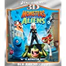 Monsters vs. Aliens (Two-Disc Blu-ray 3D/DVD Combo)