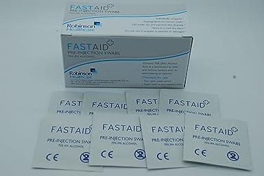 Fastaid 70% IPA Alcohol toallitas para electrónica, Hisopos ...