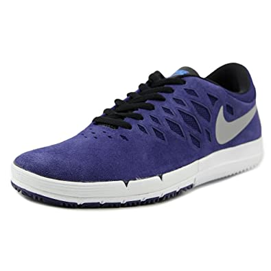 on wholesale release date: good selling Nike Free SB Deep Royal Blue/White/Mettalic Silver Skate Shoes-11