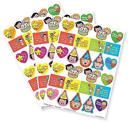 C.S. Pegatinas de cumpleaños para niños, para profesores ...