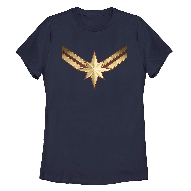 2200539d Amazon.com: Marvel Women's Captain Marvel Star Symbol Costume T-Shirt:  Clothing